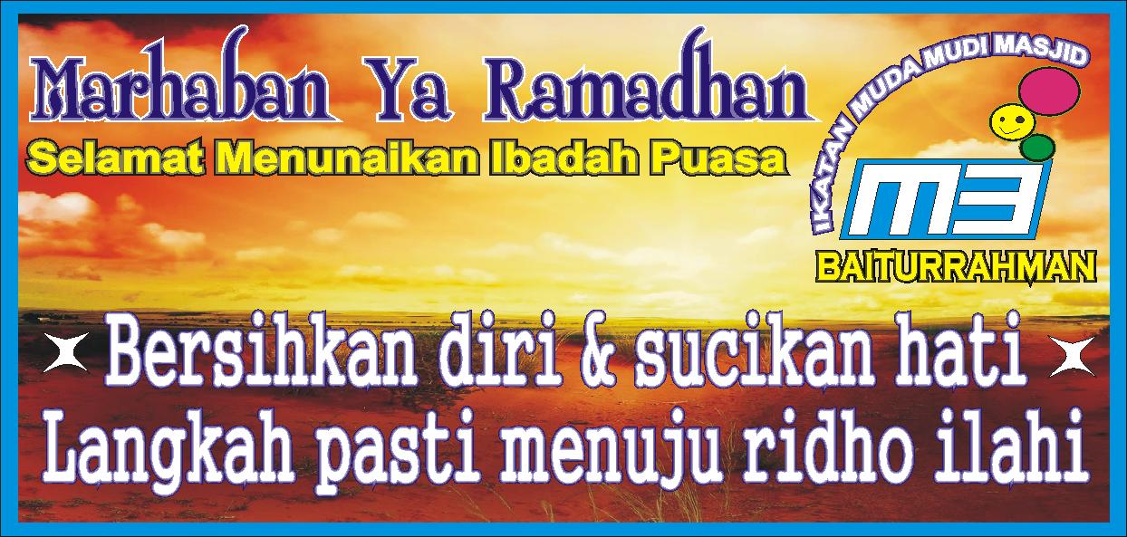 Berikut Tampilan Spanduk Menyambut Bulan Ramadhan Dan Ini Idul Fitri