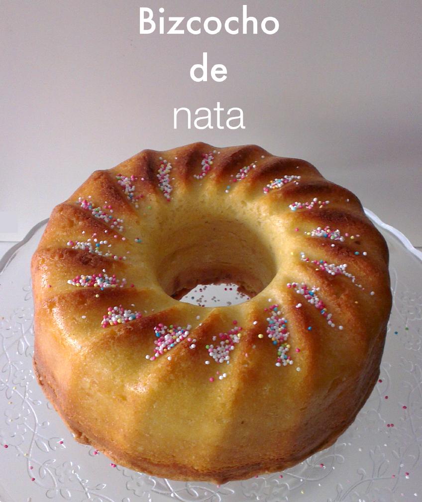 receta de bizcocho de nata