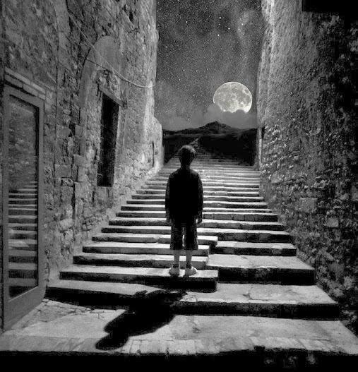 tutti partiamo per la luna ,poi ci accontentiamo di guardarla. anonimo