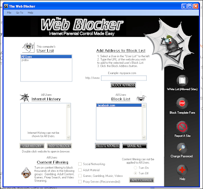 The Web Blocker - குறிப்பிட்ட தளங்களை Block செய்ய உதவும் இலவச மென்பொருள் Block+List