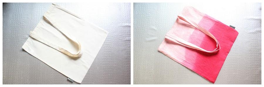 Cómo teñir una bolsita de tela y obtener un efecto ombré
