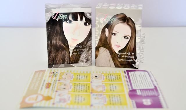 Klenpop's circle lenses come in adorable illustrated boxes, along with a wear-and-care manual for your lenses.