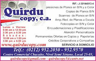QUIRDU COPY, C.A. en Paginas Amarillas tu guia Comercial