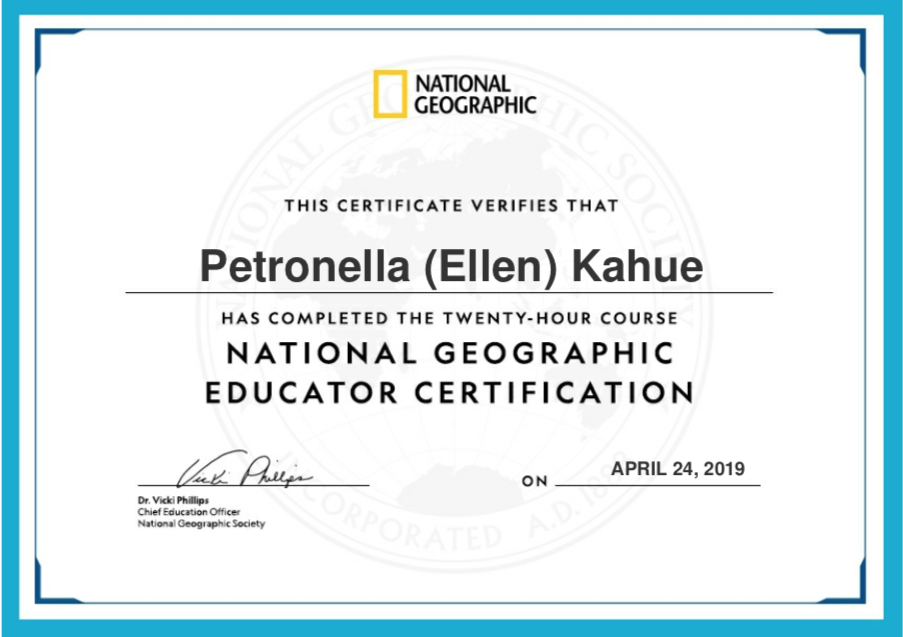 National Geographic Educator Certification