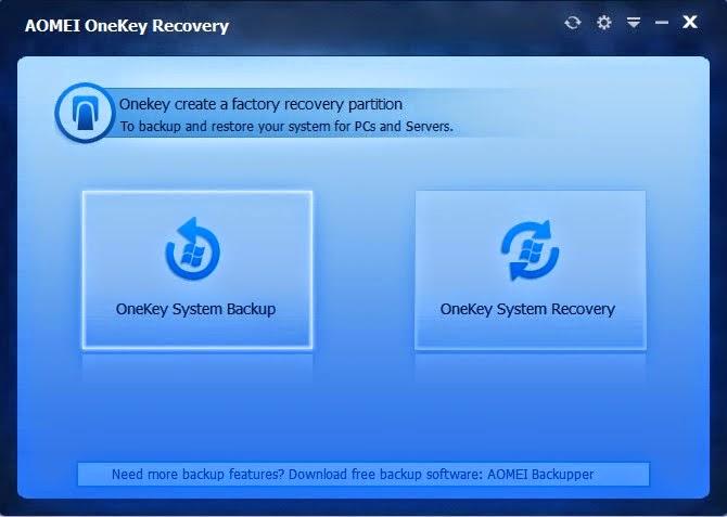 شرح بالفيديو كيفية حفظ نظام التشغيل بالكامل إحتياطياً وإستعادته في أي وقت أخر AOMEI OneKey Recovery