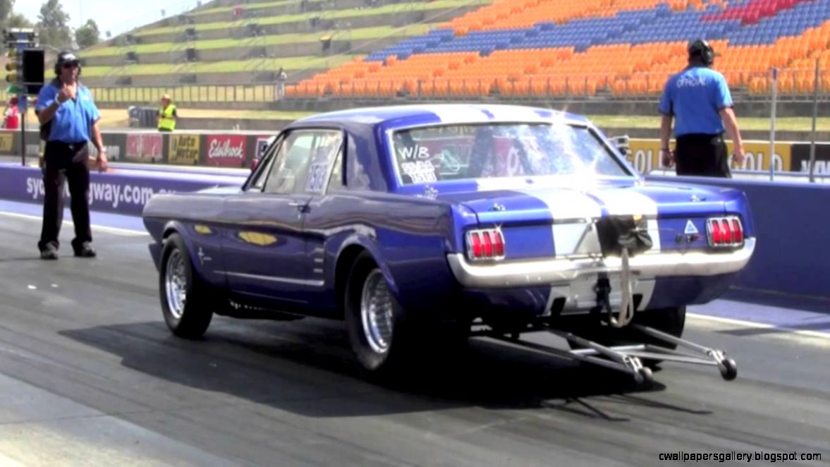 1966 blown ford mustang drag car 112012   YouTube