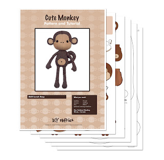 monkey doll sewing pattern pdf