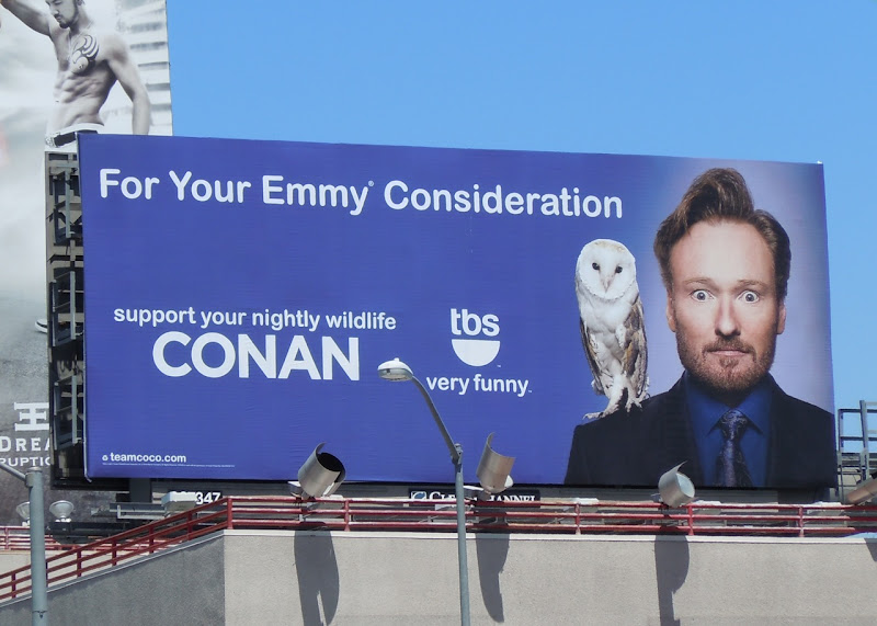 Conan Show Emmy billboard
