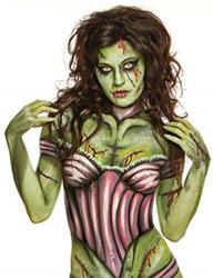 body paint sexy para halloween