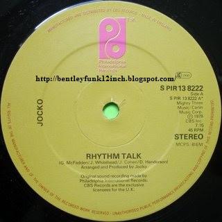 Jocko - Rhythm Talk 12 Inch 1979