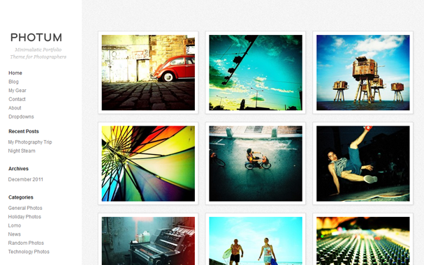 free responsive WordPress theme for photographers
