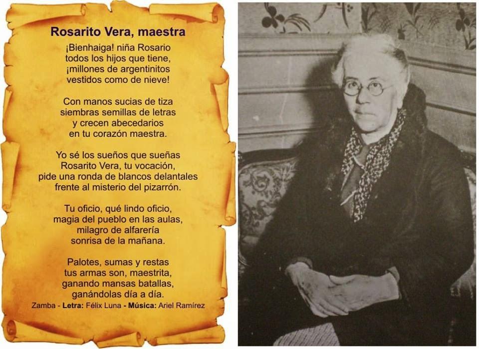 Biblio letras una leyenda llamada rosario vera pe aloza for Canciones para el jardin de infantes
