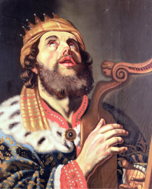 King David praying