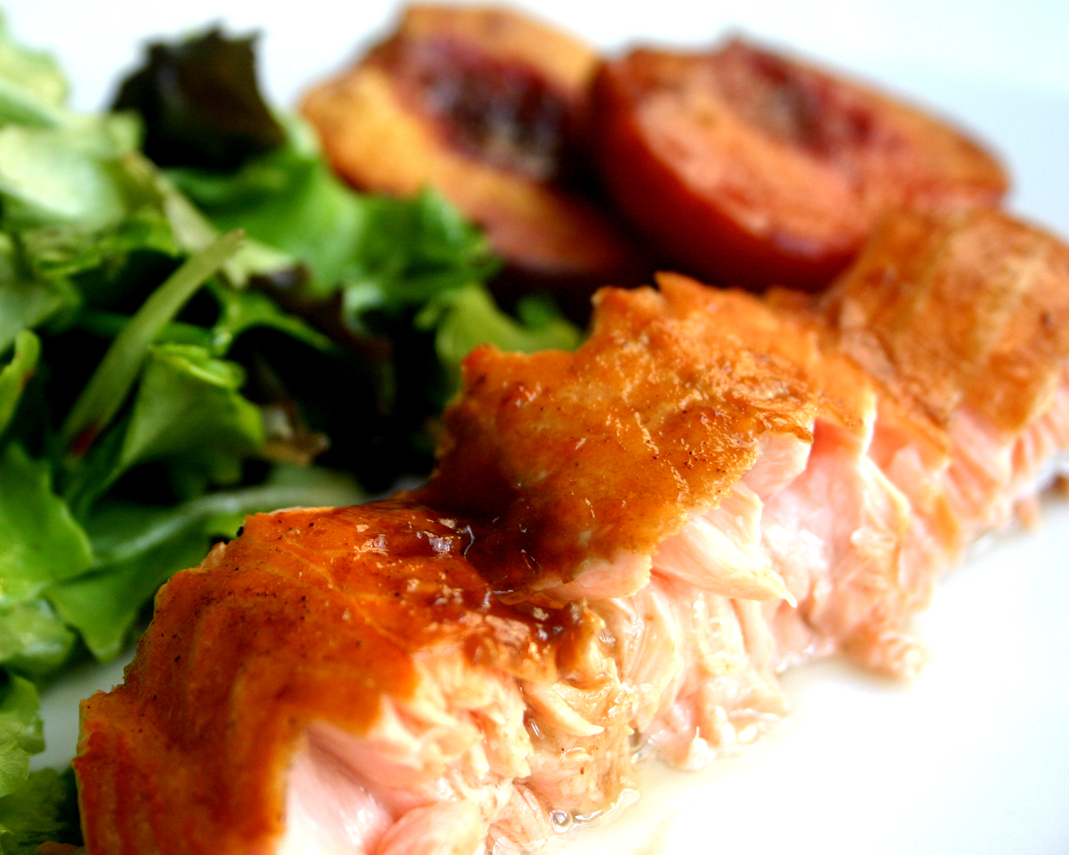 Nuts about food: Salmon with pomegranate molasses glaze and roasted ...