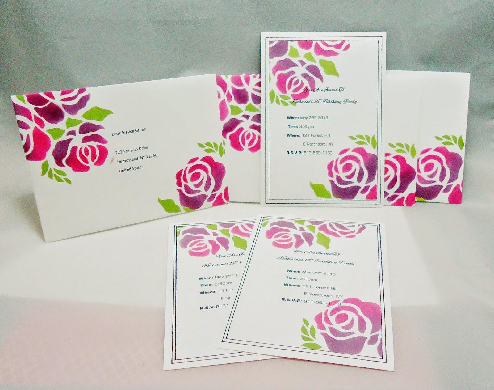 Custom Birthday Invitation with Stencil – CutCardStock