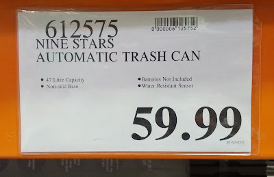 Deal for Nine Stars Automatic Stainless Steel Trash at Costco