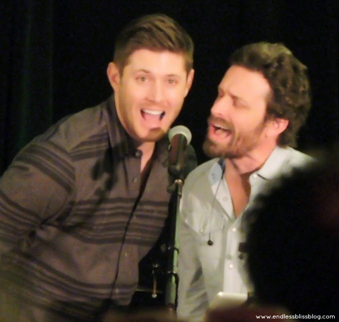 jensen ackles and rob benedict singing supernatural con houston 2015