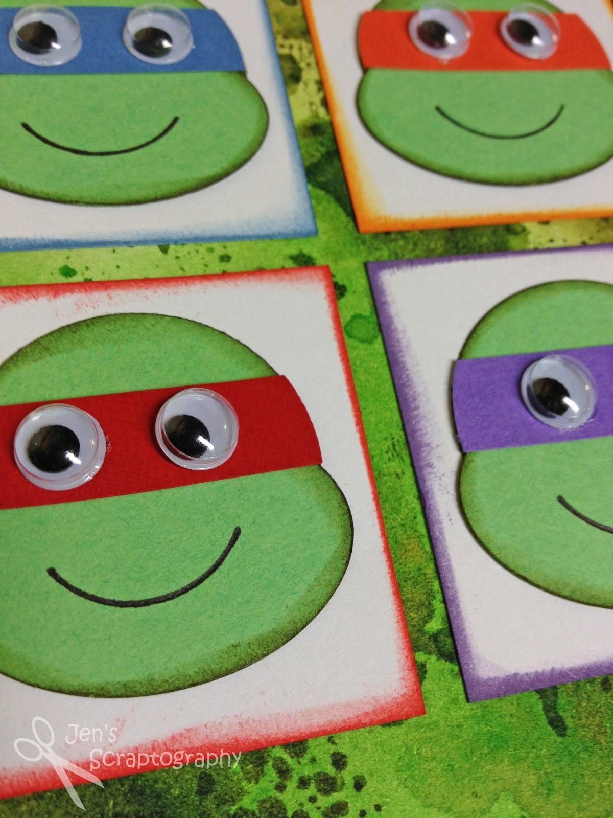 Jens Scraptography Teenage Mutant Ninja Turtle Birthday Card
