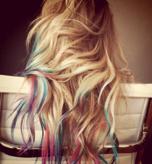 Colorful Rainbow Ombre Hair Ombre Hair Color Trend