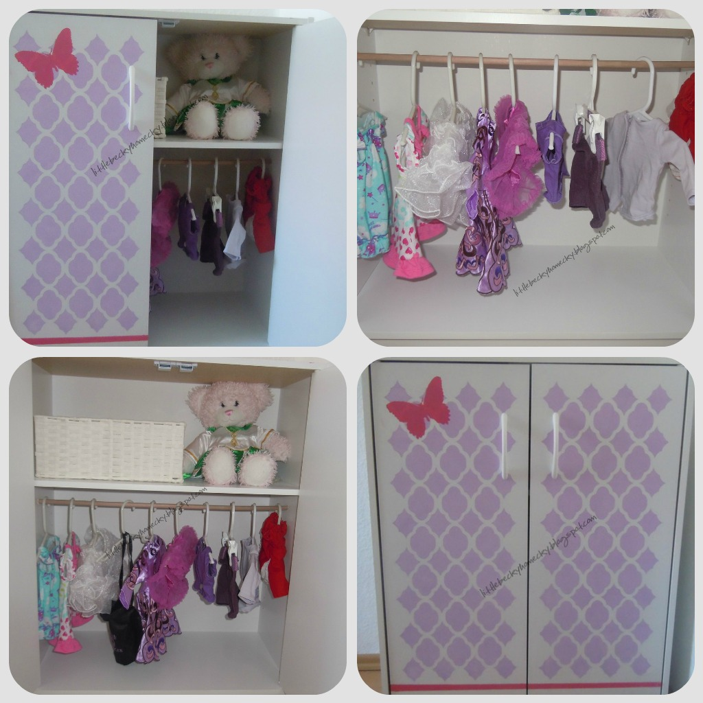 Wardrobe closet diy doll wardrobe closet for Clothes dresser