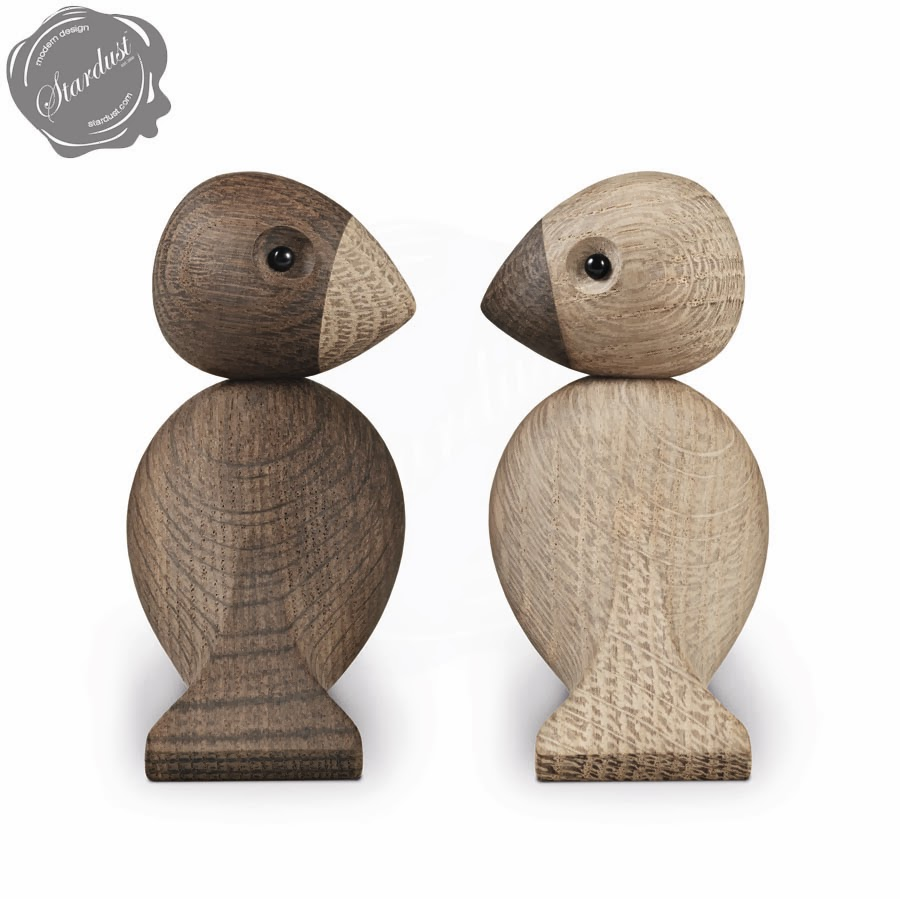 lovebirds danish wooden toy oak walnut stardust. Black Bedroom Furniture Sets. Home Design Ideas