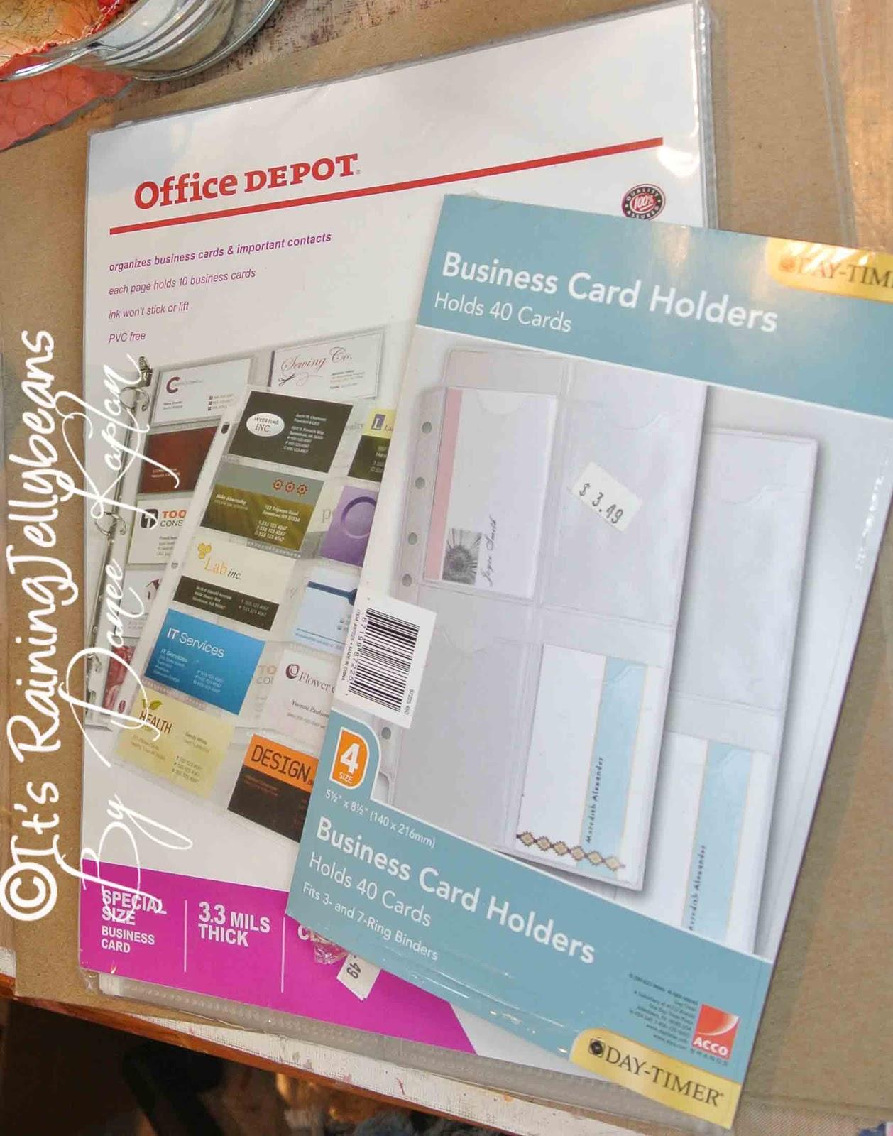 It\'s Raining JellyBeans: Business Card Holder: A Tutorial