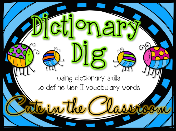 http://www.teacherspayteachers.com/Product/Dictionary-Dig-Using-Dictionary-Skills-to-Build-Vocabulary-1211621
