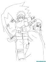Mewarnai Gambar Uzumaki Naruto