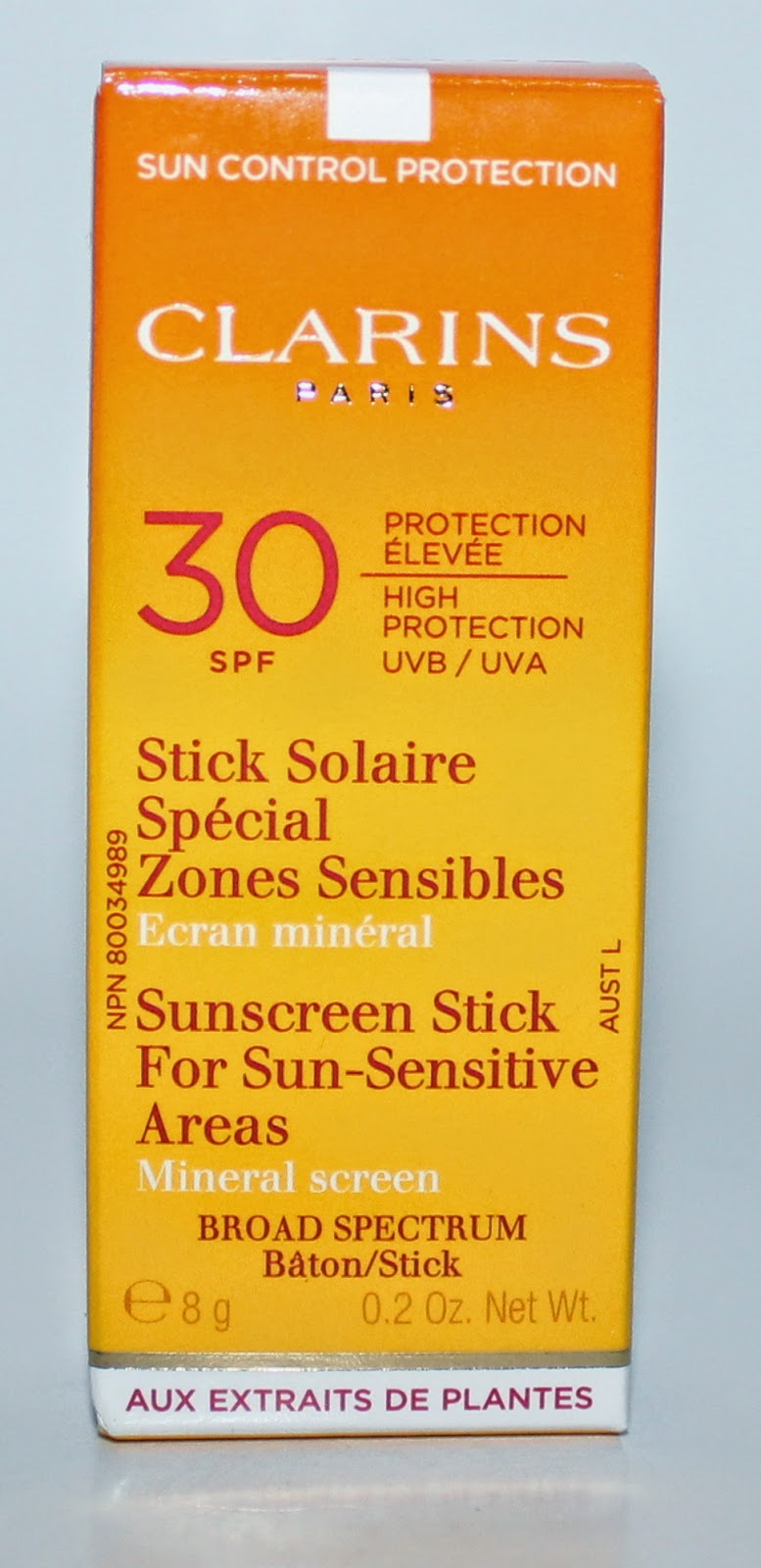 Clarins Sun Control Stick For Sun-Sensitive Areas UVA/UVB 30