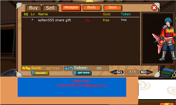 Cheat Share Gift Item Ninja Saga 2013