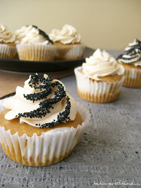 ... -Filled Pumpkin Cupcakes with Brown Sugar Buttercream Frosting