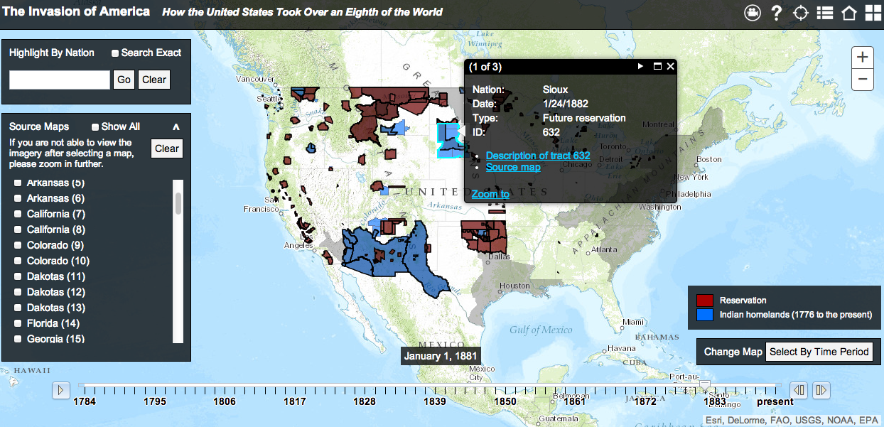 Free Technology For Teachers This Interactive Map Shows Us How - Interactive map of us expansion