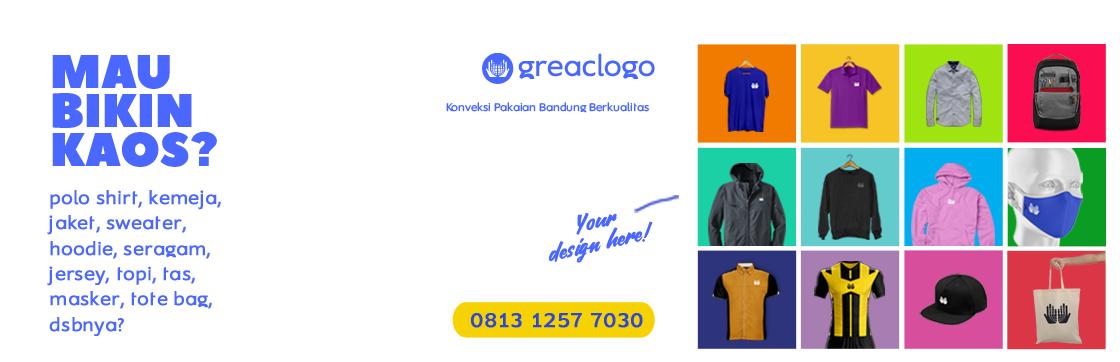 GreacLogo Konveksi Bandung Berkualitas : Kaos, Poloshirt, Jaket, Sweater, Seragam, Topi dll