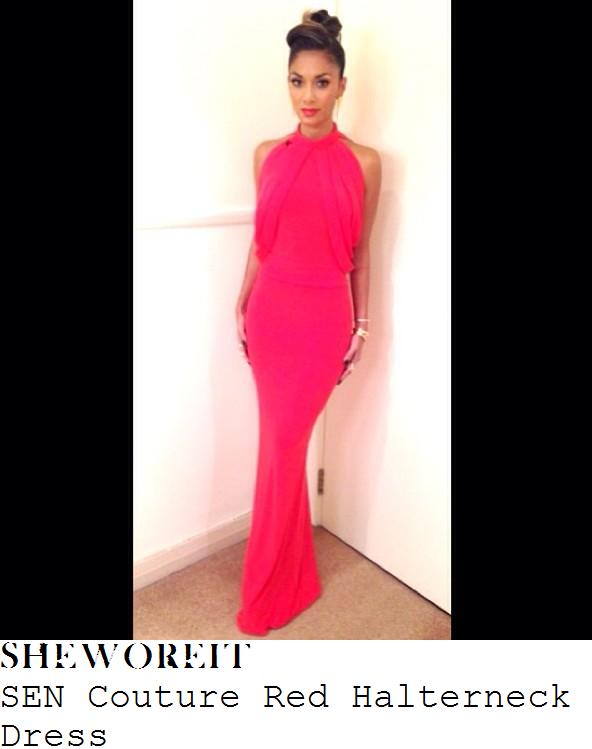 Tamara x factor red dress halter