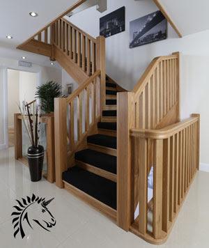 conseils déco et relooking: Maison contemporaine-escalier OaK design