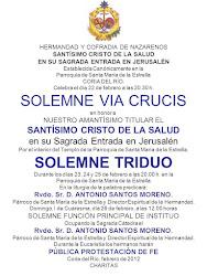 SOLEMNE TRIDUO STMO. CRISTO DE LA SALUD