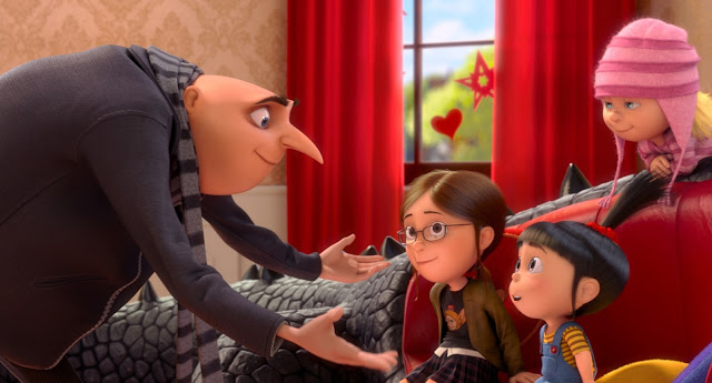 Gru daughters Despicable Me 2 2013 animatedfilmreviews.blogspot.com