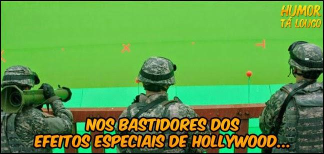 Nos bastidores dos efeitos especiais de Hollywood...