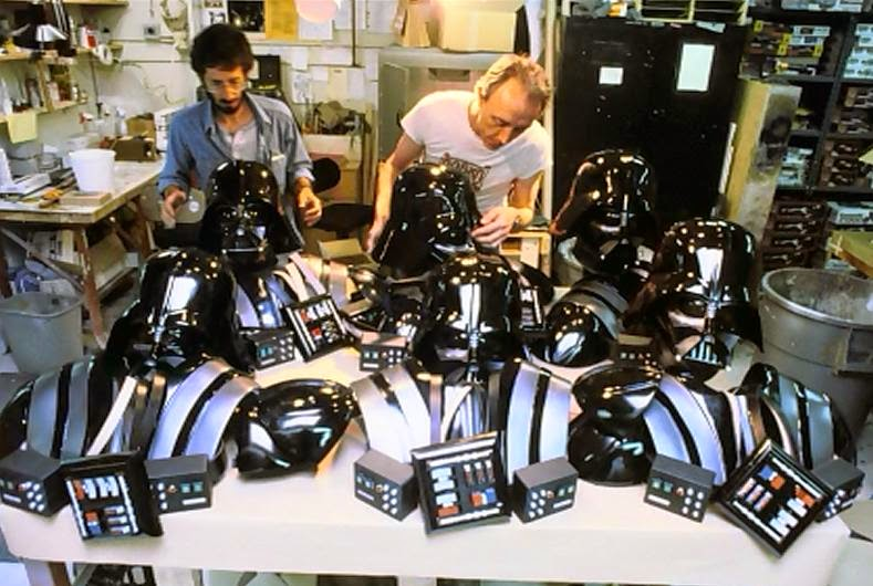 behind the scenes photo return of the jedi