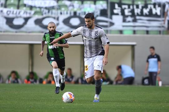 Botafogo acabou com a invencibilidade do América-MG no Independência (Foto: Agência Estado)
