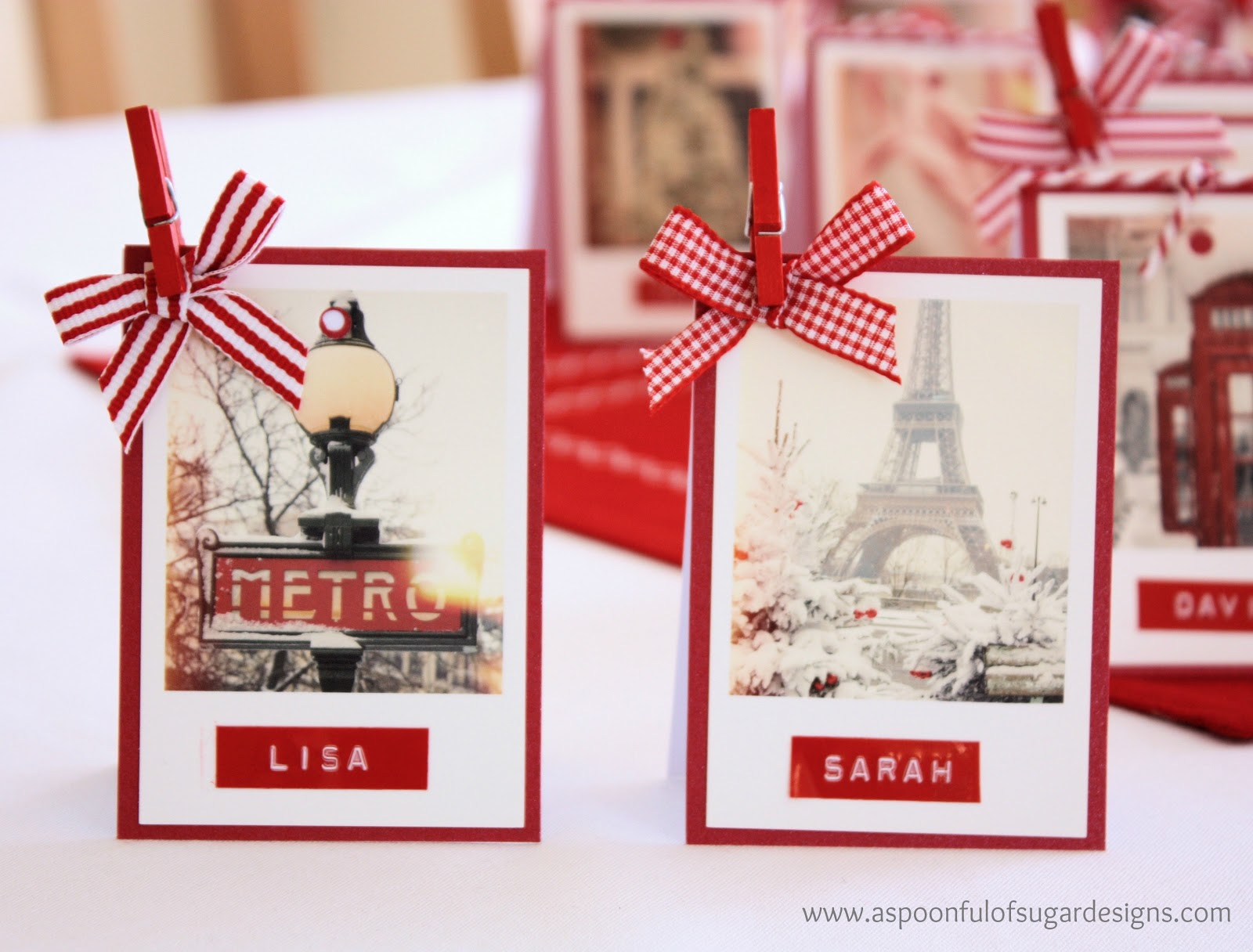 Christmas Place Cards - A Spoonful of Sugar