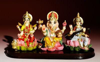 Saraswati Lord Ganesh and Laxmi (Divinidades de la India) Religion Indu