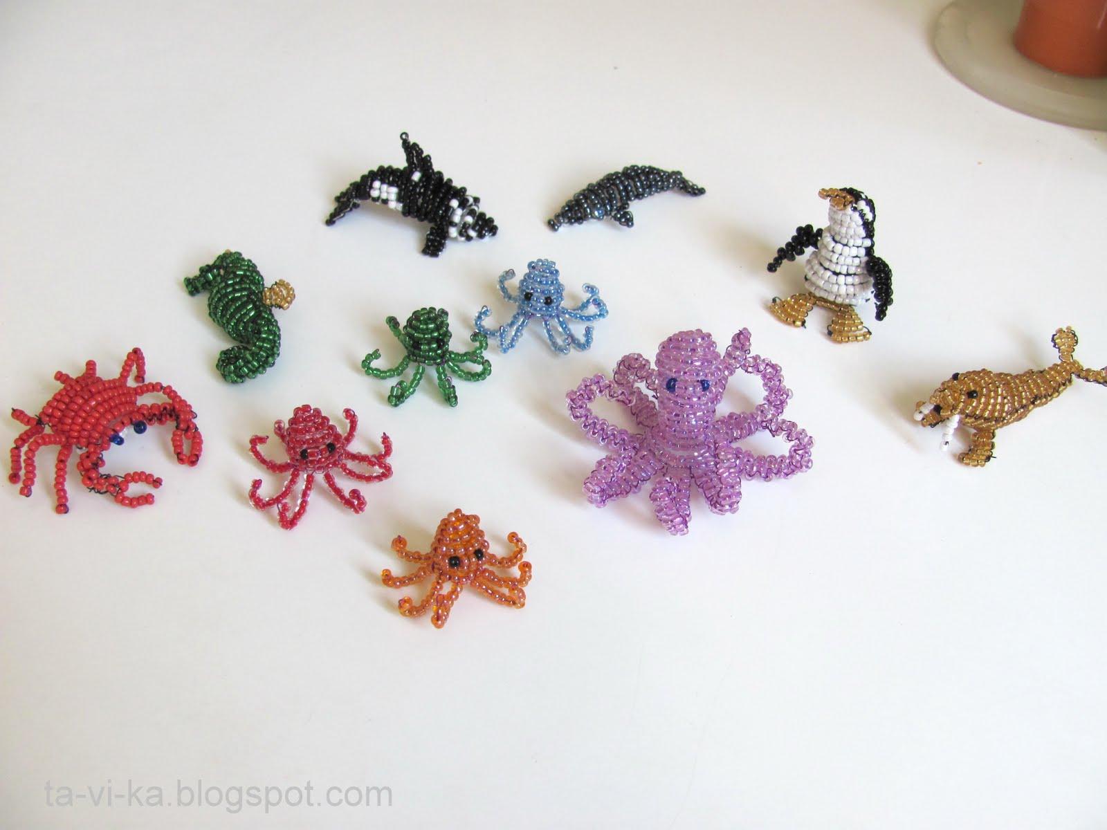 А я тут еще игрушек из бисера наплела на морскую тему.  Морж.  БОГИНЯ27, lenuschka, спасибо!