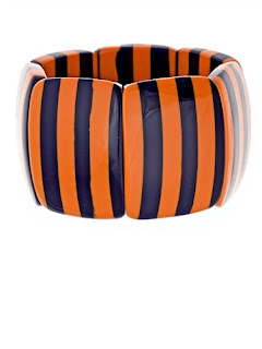Navy & Orange Two Stripe Bracelet