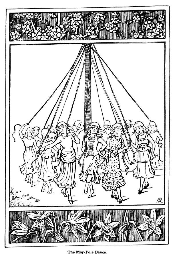 The May Pole Dance by Adelia Belle Beard 1887