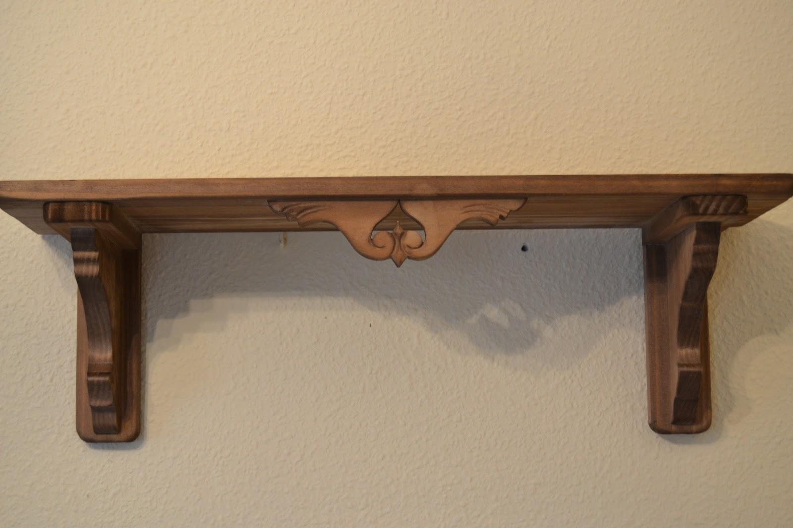RÚSTICA EN MADERA : Balda de madera para pared tallada. (Art. 070 #3E291A 1600x1066