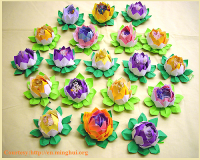 Paper lotus For Ganesha