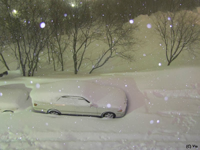 This is what a normal street in Kamchatka may look like before bed.