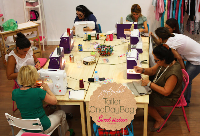 Taller ONE DAY BAG Sweet sixteen craft store, Madrid
