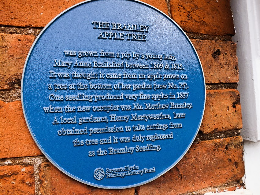 The Bramley Apple Tree Cottage blue plaque